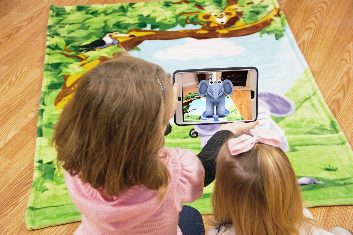 New Animates Augmented Reality Jungle Blanket is creating quite the buzz!