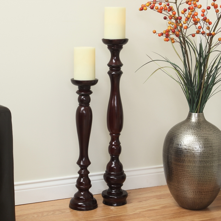 Large floor pillar candle holders for Floor candle holders