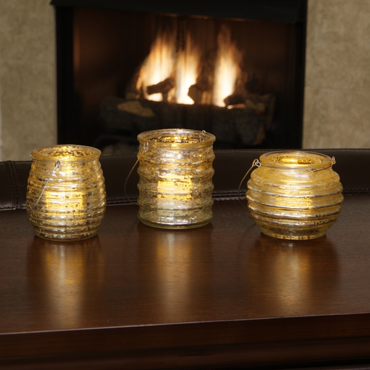 milano flameless tea light holders set of 3s tealight holders. Black Bedroom Furniture Sets. Home Design Ideas