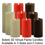 Solare 3D Virtual Flame Candles with 3D Flame and Color-Hue Technology Have Arrived