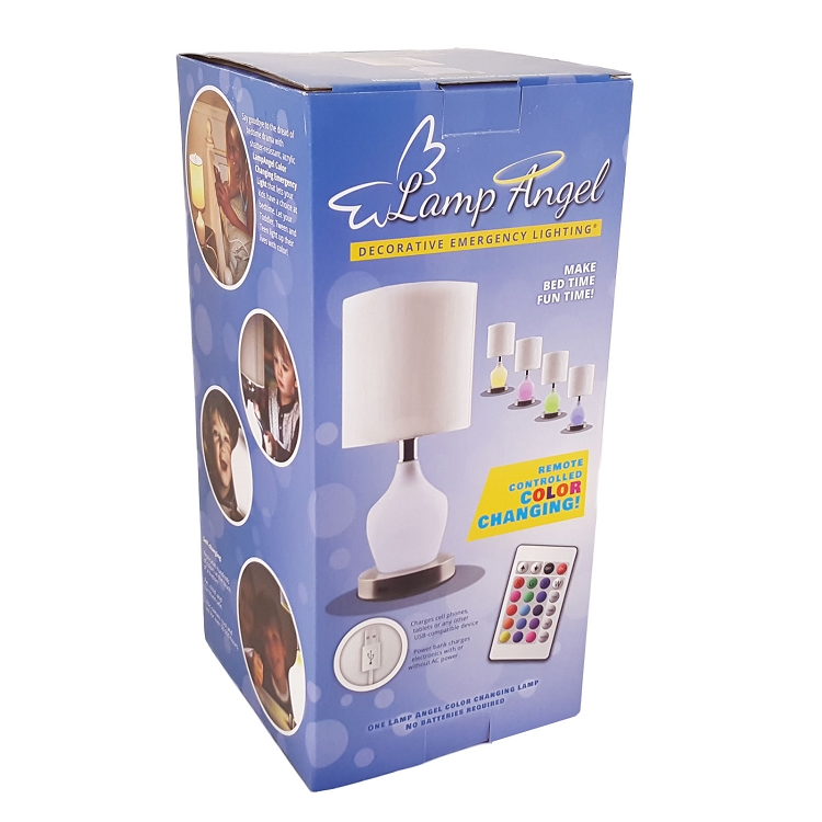 Decorative Emergency Wall Lights : Rely-a-Light Lamp Angel Decorative Emergency Light and Phone Charger