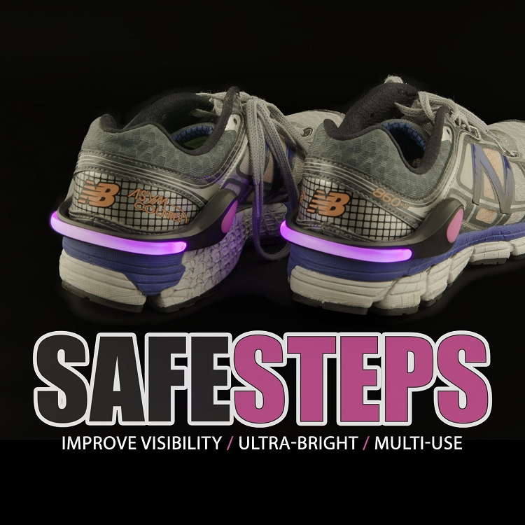 Safe Steps Clip On Safety Shoe Lights for Runners