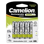 AA Ni-Cad Rechargeable Batteries 1000mAh 4 Pack