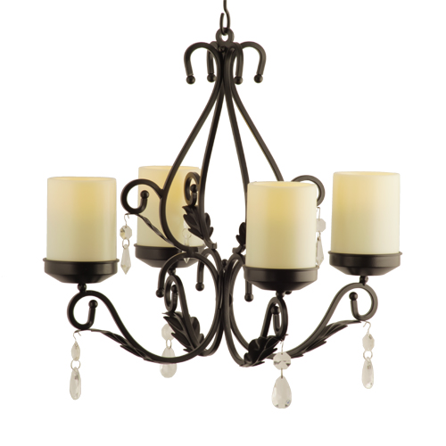 ... Outdoor Candle Holders > Charleston Flameless Chandelier Sconce
