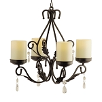 Charleston Flameless Chandelier Sconce Centerpiece Combo
