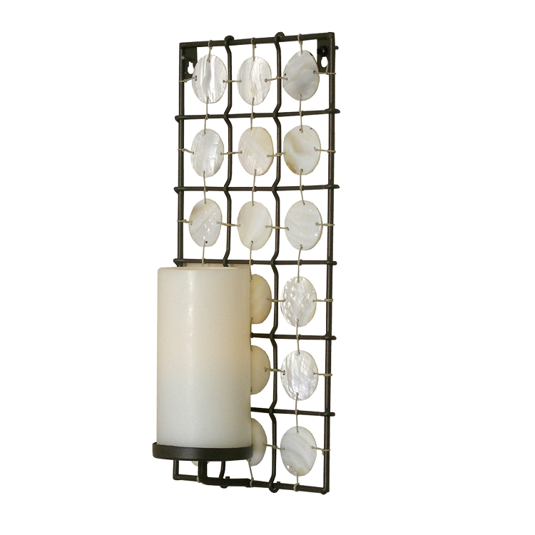 Wall Sconce With Led Timer Candle : Wholesale Pacific Accents Equinox Sconce with Flameless Candle