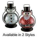 Pacific Accents Flameless Color Changing Mosaic Holiday Lantern