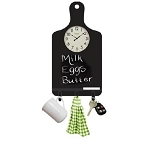 Westclox 32207 11 x 17 Chalkboard Clock with Shelf