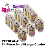 Pet Blinkers Brand 24 Piece Small & Large Combo Variety Pack