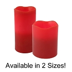 Pacific Accents Red Flameless Melted Top Pillar Candles