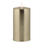 Solare 3D Virtual Flame Candles with Color-Hue Technology Gunmetal