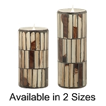 Solare 3D Virtual Flame Candles with Color-Hue Technology Distressed Mosaic