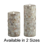 Solare 3D Virtual Flame Candles with Color-Hue Technology Pearl Mosaic