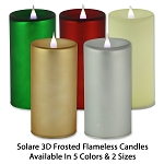 Solare 3D Flameless Candles Frosted Finish