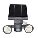 Pacific Accents 2 x 5 Watt COB LED Solar Spotlight 600 Lumens