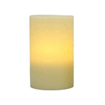 Flameless 4 x 6 Flat Top Wax Pillar Candle