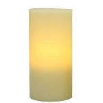 Flameless 5 x 8 Flat Top Wax Pillar Candle