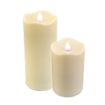 Solare 3D Virtual Flame Resin Melted Top Water Resistant Flameless Candles - 2-Pack