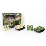 Set of 2 R/C Tanks (green and brown)