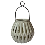 Diamante Graphite Ceramic Lantern