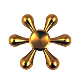 Collectable Gold Helm Fidget Spinner- 6 sided