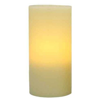 Flameless 4 x 8 Flat Top Wax Pillar Candle