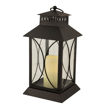 Neuporte Lantern with Resin Flameless Candle