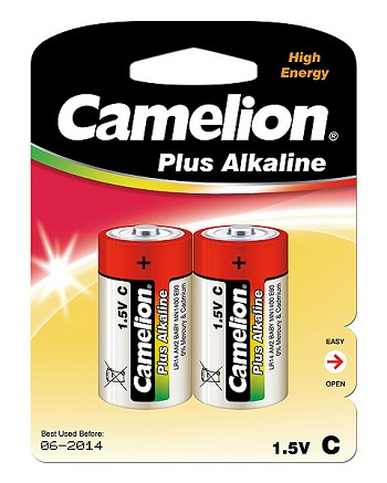 Alkaline C Batteries Pack of 2