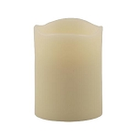 Resin Flameless 3 x 3.75 Pillar Candle With Melted Top