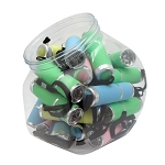 9 LED Glow-In-Dark Flashlight, 24 Piece Jar