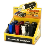 9 LED Metal Case Flashlight POP Display of 12