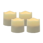 Flameless LED Tea Light Candles with Timer - Set of 4