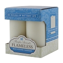 Flameless LED Votive Candles with Timer - Set of 4