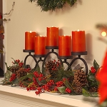 Solare 3D Holiday Red 3x5 Melted Top Flameless Candle