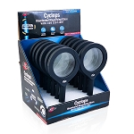 Cyclops - Illuminated Magnifying Glass With COB LED Light - 12 PC Display