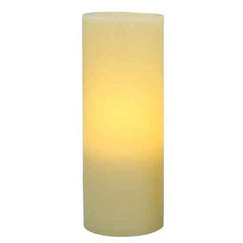 Flameless 3 x 8 Flat Top Wax Pillar Candle