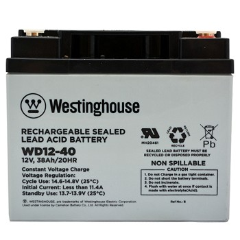 WA12-40 12v 38Ah Rechargeable Sealed Lead Acid Battery Wholesale