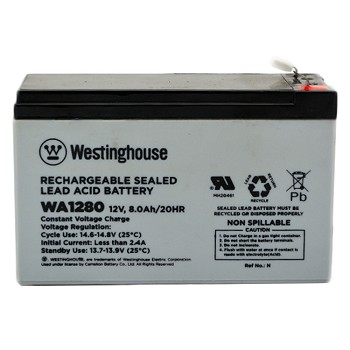 WA1280 12v 8.0Ah Rechargeable Sealed Lead Acid Battery Wholesale