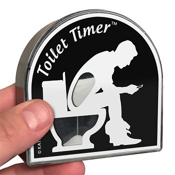 Toilet Timer™ | Unique 5 Minute Sand Timer