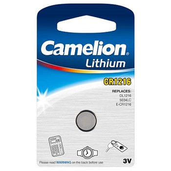CR1216 3 Volt Lithium Button Cell Battery 1 Pack