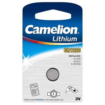 CR1220 3 Volt Lithium Button Cell 1 Battery Pack
