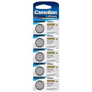 CR2032 3 Volt Lithium Button Cell Batteries 5 Pack