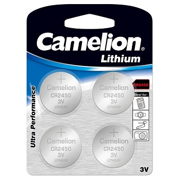 CR2450 3 Volt Lithium Button Cell 4 Pack