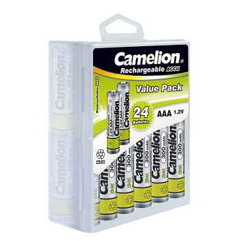 AAA Ni-Cad 300mAh Rechargeable Batteries 24 pack