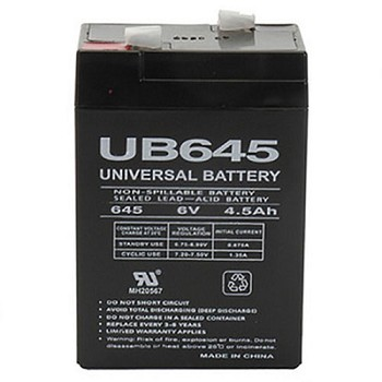 UPG 6 Volt 4.5 Amp AGM Sealed Lead Acid Battery with F1 Terminal