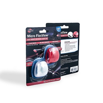 Micro FlexView LED Bike Light - 2PK