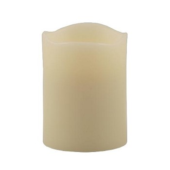 Flameless 3 x 4 Melted Top Wax Pillar Candle