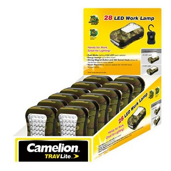 28 LED Camo Work Light POP Counter Display of 12